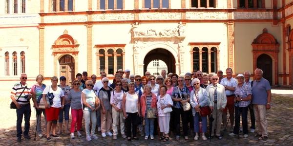 Der Teilnehmer im Garten des Amtsgerichts von Wismar