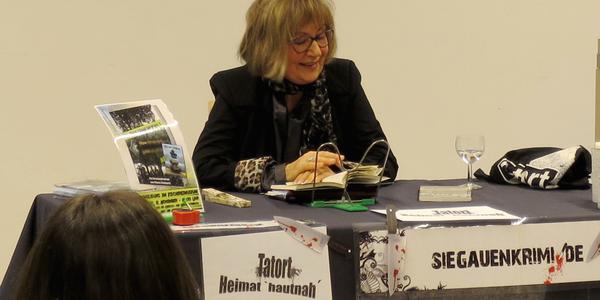 Maria Reinartz während ihrer Lesung
