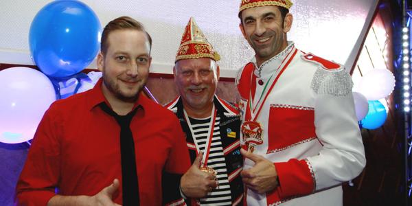 David Gierlich, Stefan Grommes und Herr Dirk (von links nach rechts) sorgten für Effekte und Musik