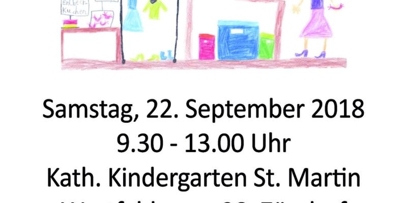 Flohmarkt rund ums Kind im kath. Kindergarten St. Martin in Zündorf