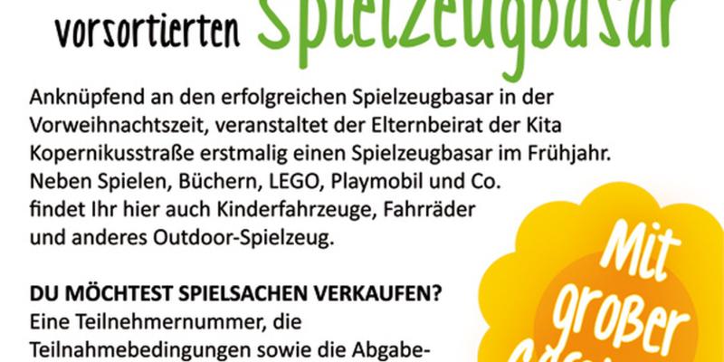 organisierten und vorsortierten, Spielzeugbasar der Kindertagesstätte Kopernikusstraße (Niederkassel-Lülsdorf)