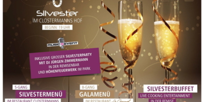 Silvesterparty im Hotel Clostermanns Hof