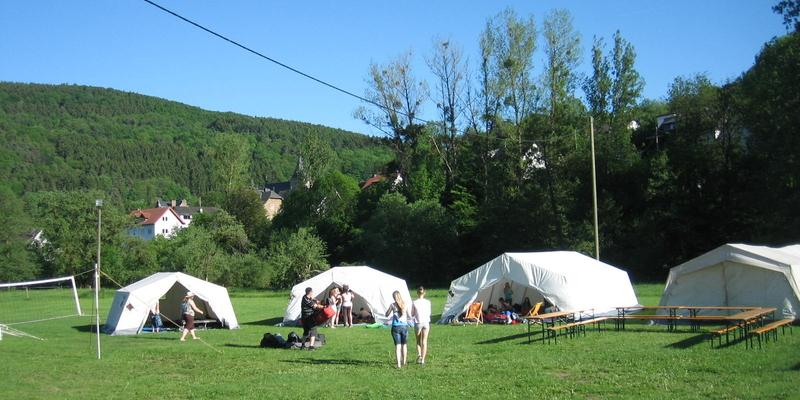 Pfingstzeltlager in der Eifel