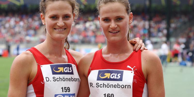 Mit ihren Platzierungen zufrieden - Deborah (links) und Rabea
