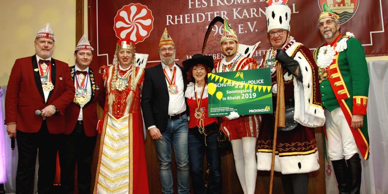 Sicher ist sicher - Roland Forst, Markus Thüren, Jungfrau Stephanie, Stefan Klein Mary Busch, Prinz Andreas I., Bauer Hajo und Prinzenführer Wolfgang Hopp