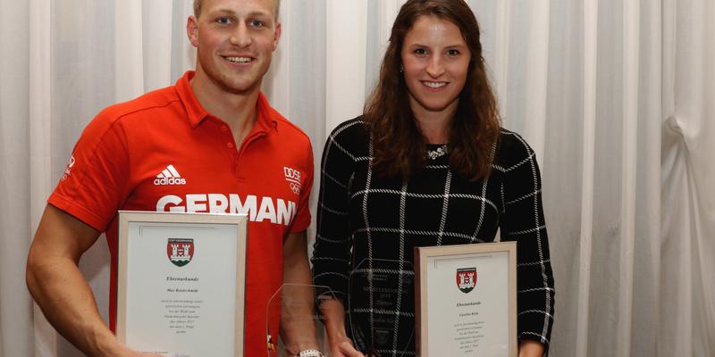 Die Sportler des Jahres Caroline Klein und Max Rendschmidt