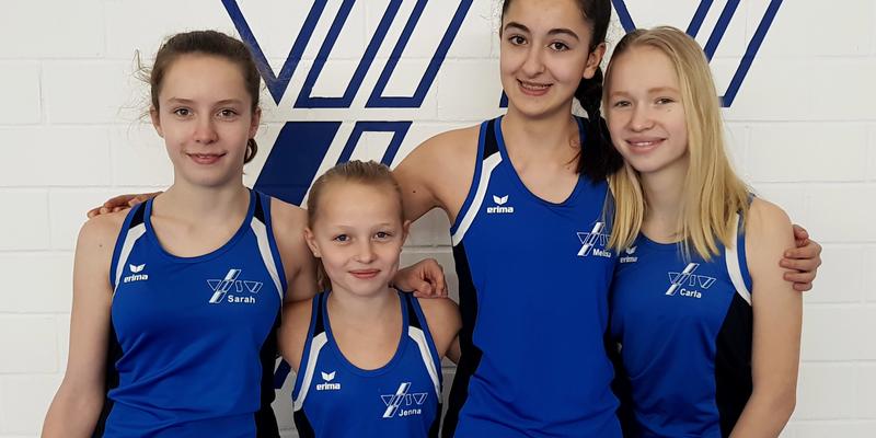 Sarah Schneiders, Jenna Kastell, Melisa Pirildar, Carla Heuser (von links nach rechts)