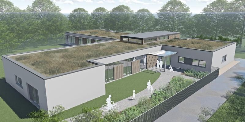 Die Kita am Sportpark Süd in einer Modellansicht des Architekturbüros Thobrock