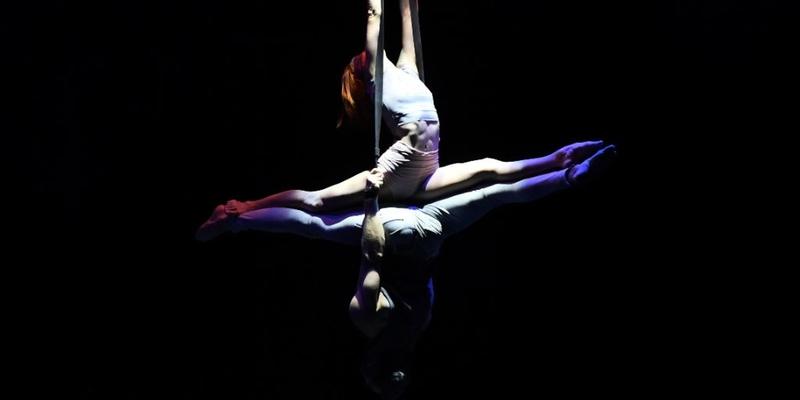 """Eine Luftartistin und ein Bodenakrobat verlieben sich. Heraus kommt das außergewöhnliche """"Duo Spirit"""": Luiza Vorontsova und Dmitrii Vinokurov"""