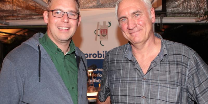 Marcus Jonas (li.) begrüßte Marco Büttgenbach in Ranzel