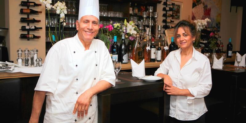 Küchenchef Kimo  und Restaurantchefin Najet