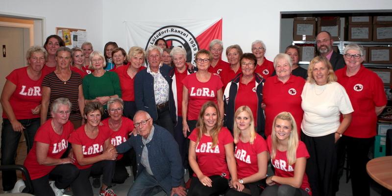 Die Damen der Turnabteilung mit Uta Rockenfeller und Ehemann Horst